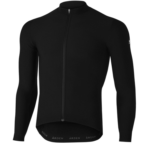 [ARDEN] Solid Thermal long Jersey / Black